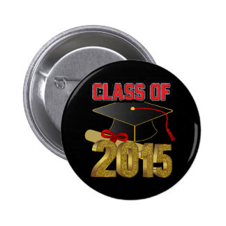 Clase del botón 2015 pin redondo de 2 pulgadas