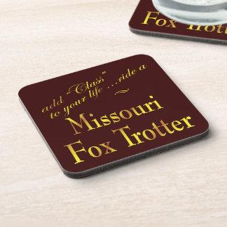Clase del caballo que trota del Fox de Missouri Posavasos De Bebidas