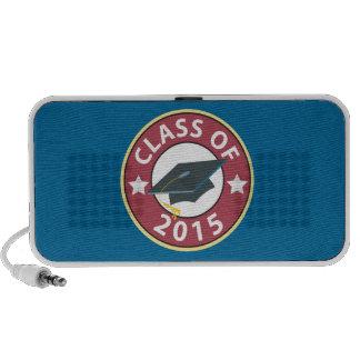 Clase del casquillo 2015 de la graduación notebook altavoz