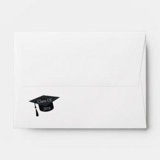 Clase del casquillo 2016 de la graduación sobres