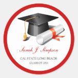 Clase del casquillo de la graduación de 2014 etiquetas