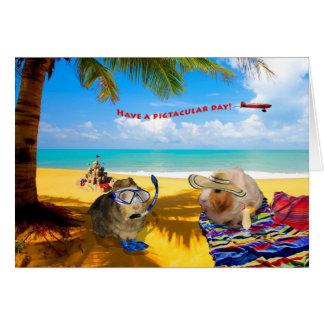 Clase del cerdo de día tarjeta de felicitación