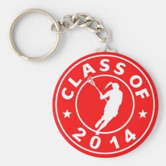 Clase del chica 2014 LaCrosse Llavero Personalizado