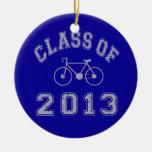 Clase del ciclista 2013 adorno redondo de cerámica