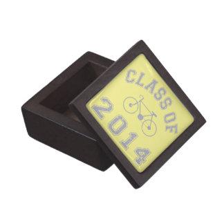 Clase del ciclista 2014 - gris 2.o cajas de recuerdo de calidad