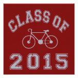 Clase del ciclista 2015 - gris 2 invitacion personalizada