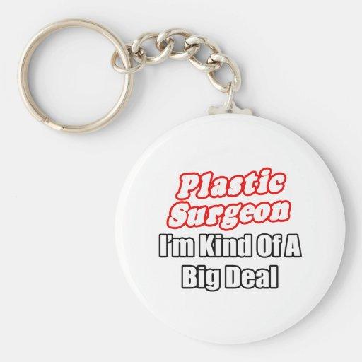 Clase del cirujano plástico… de una gran cosa llavero redondo tipo pin