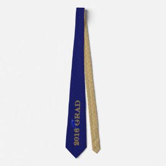 Clase del damasco del azul real y del oro de 2016 corbatas