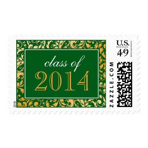Clase del damasco del remolino del oro verde de la sello