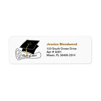 Clase del diploma 1 de la etiqueta de dirección