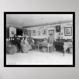 Clase del discusión en la escuela india 1901 de Ca Poster