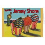 Clase del ejercicio de la orilla del jersey tarjeta de felicitación