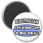 Clase del electricista… de una gran cosa imán