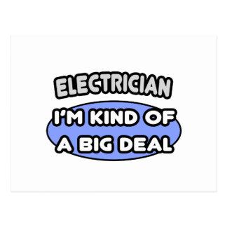 Clase del electricista… de una gran cosa tarjetas postales