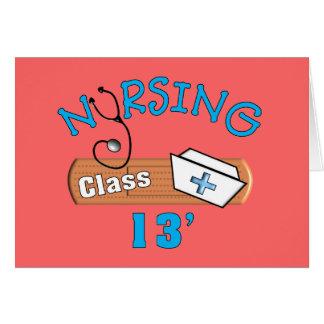 Clase del estudiante del oficio de enfermera de 20 tarjeta de felicitación