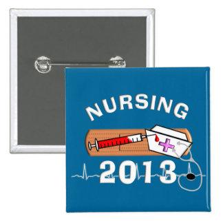 Clase del estudiante del oficio de enfermera de pin cuadrado