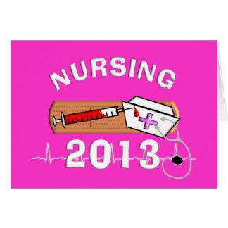 Clase del estudiante del oficio de enfermera de tarjeta de felicitación
