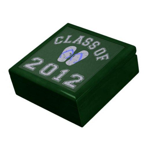 Clase del flip-flop 2012 - gris/azul 2.o joyero cuadrado grande