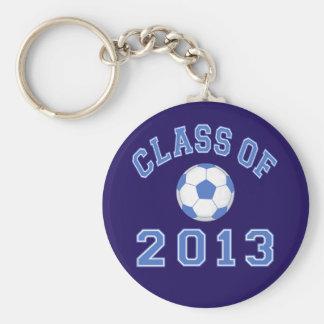 Clase del fútbol 2013 azul/blanco 2 llaveros personalizados