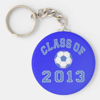 Clase del fútbol 2013 azul/blanco 2 llaveros