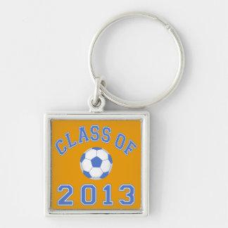 Clase del fútbol 2013 azul/blanco 2 llavero