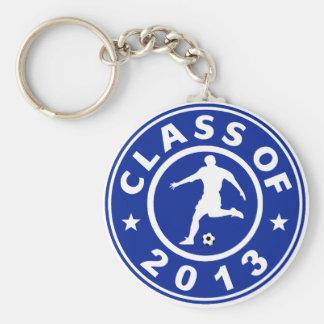 Clase del fútbol 2013 llaveros personalizados