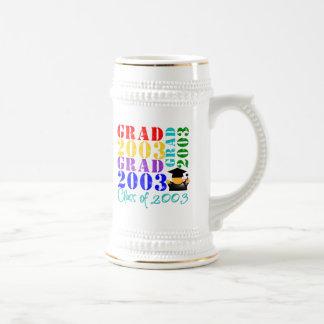 Clase del graduado de 2003 taza de café