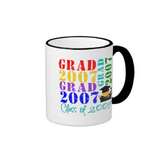 Clase del graduado de 2007 taza de café