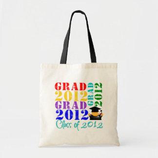 Clase del graduado de 2012 bolsa lienzo