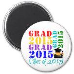 Clase del graduado de 2015 imanes de nevera