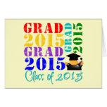 Clase del graduado de 2015 tarjetón