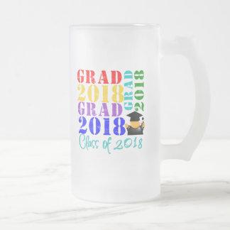 Clase del graduado de 2018 taza de cristal