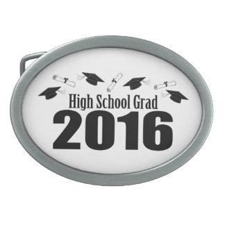 Clase del graduado de la High School secundaria de Hebillas Cinturón Ovales