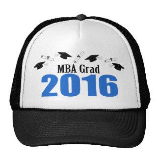 Clase del graduado de MBA de 2016 casquillos y Gorro De Camionero