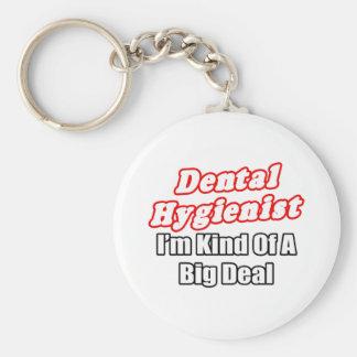 Clase del higienista dental… de una gran cosa llavero redondo tipo pin