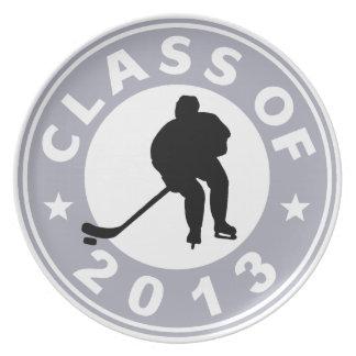 Clase del hockey 2013 plato de cena
