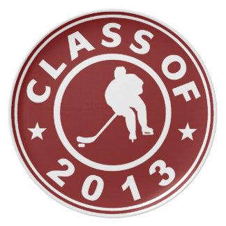 Clase del hockey 2013 plato para fiesta