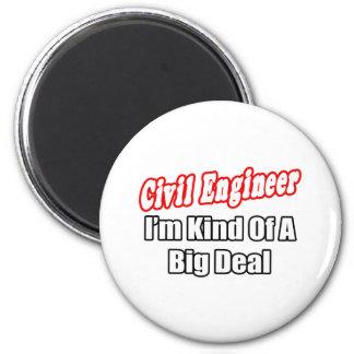 Clase del ingeniero civil… de una gran cosa imán redondo 5 cm
