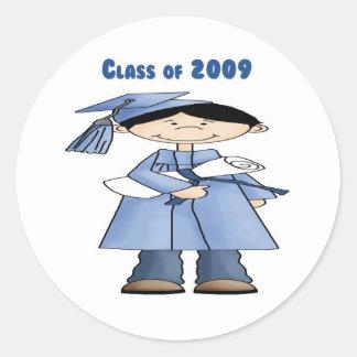 Clase del muchacho 2009 pegatina redonda