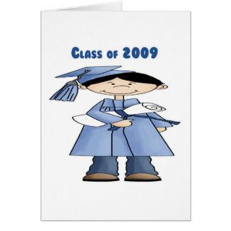 Clase del muchacho 2009 tarjeta de felicitación