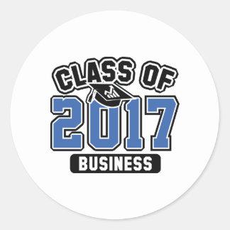 Clase del negocio 2017 pegatina redonda