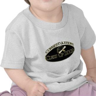 Clase del negro 2009 camisetas