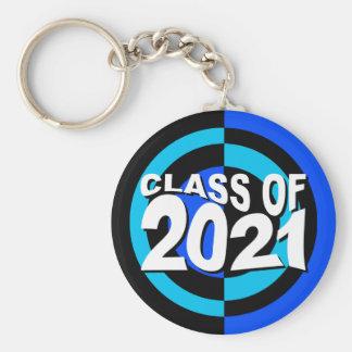 Clase del negro azul 2021 del llavero