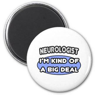 Clase del neurólogo… de una gran cosa imán redondo 5 cm