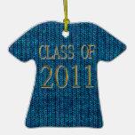 Clase del ornamento 2011 del suéter ornamento para arbol de navidad
