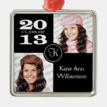 Clase del ornamento 2013 de la foto del monograma ornamento para arbol de navidad