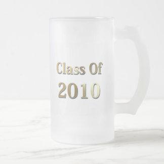Clase del oro 2010 taza de cristal