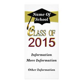 Clase del oro de 2015 tarjetas del estante plantillas de lonas