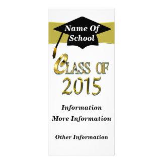 Clase del oro de 2015 tarjetas del estante diseño de tarjeta publicitaria