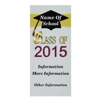 """Clase del oro de 2015 tarjetas del estante folleto publicitario 4"""" x 9"""""""